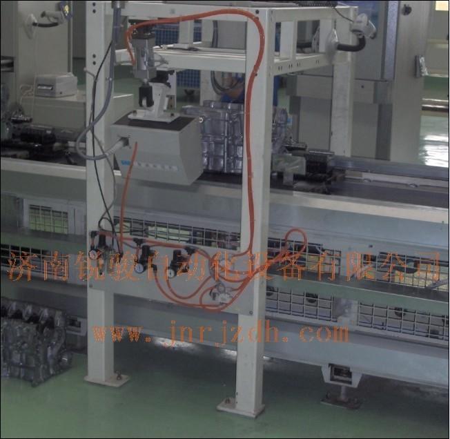 昌河发动机生产线 , 车架打标机,铭牌打码机,汽车打码